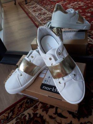 Sneaker bianco-oro