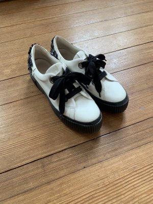 Attilio giusti leombruni Chaussures à lacets blanc cassé-noir cuir