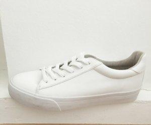 Asos Basket à lacet blanc faux cuir