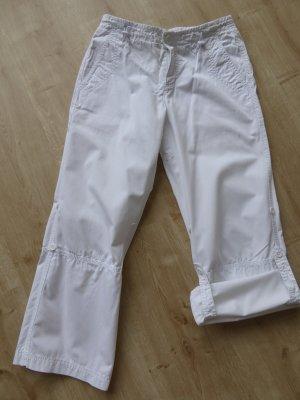 weiße Sommer Cargohose krempelbar