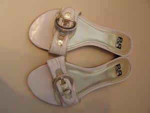 Weiße Sommer Sandalen