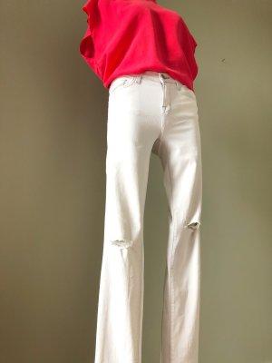 Weiße Sommer Used Jeans von J brand Größe 26