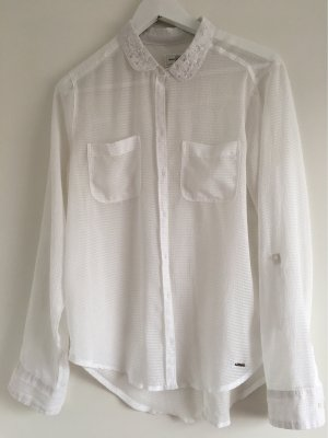 Abercrombie & Fitch Long Sleeve Blouse white