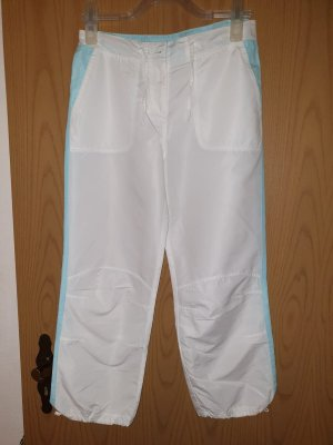 Capris white-baby blue polyester