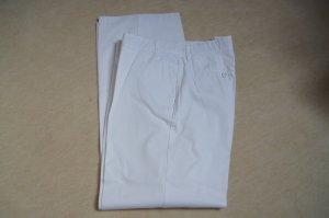 weiße Sommerhose von Mango Gr. 42/44mit Bügelfalte