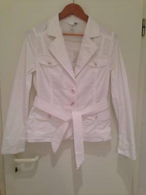 Weiße Sommerjacke im Blazerstil von H&M in Größe 40