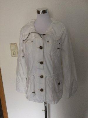 weiße Sommerjacke / Jacke / Übergangsjacke von Yessica - Gr. 40