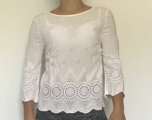 weiße sommerliche Bluse