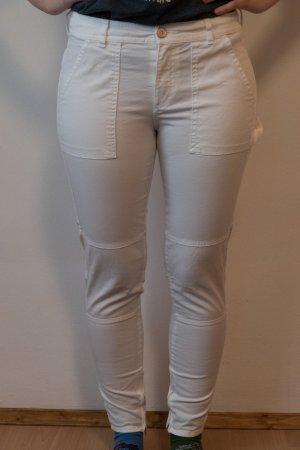 Mango pantalón de cintura baja blanco Algodón