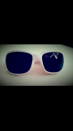 Weiße Sonnenbrille mit Blümchen