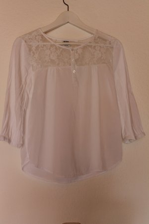 weiße, spitzen Bluse