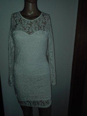 Weiße Spitzen Kleid ,Knie- lang,elastisch.