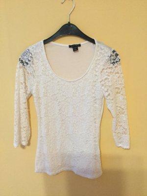 Amisu Kanten blouse wit