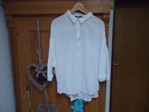 weiße Spitzenbluse Gr.46 mit tollem Rücken