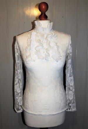 Weiße Spitzenbluse von Zanzea Collection in M