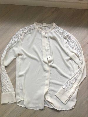 weiße Spitzenbluse Zara