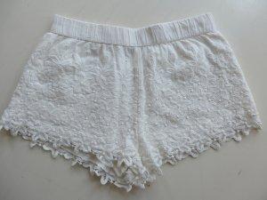 Zara Short moulant blanc coton