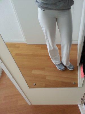 Weiße Sporthose Nike Fitness XS bequem Jogginghose Running Sport insta 34