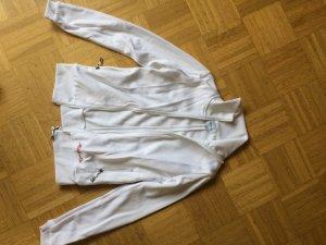 Weiße Sportjacke mit Kapuze
