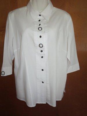 weiße sportliche Hemdbluse, Trachtenstil
