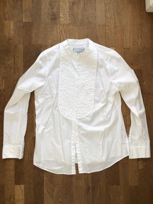 Hawes & Curtis Stand-Up Collar Blouse white