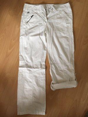 Weiße Stoffhose von Street One in Größe 40