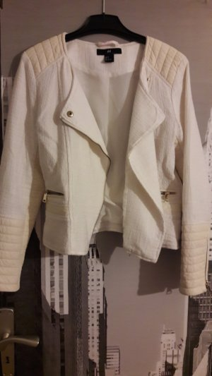 Weiße Stoffjacke von H&M