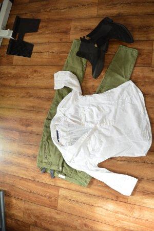 Weisse strechige Bluse Gr. 42 zara Basic