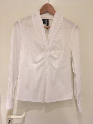 Weiße Stretch-Bluse von Mango in Größe 38 (L)