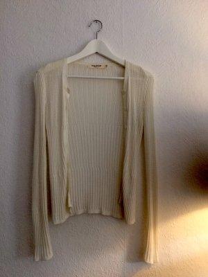 weiße Strickjacke Cardigan