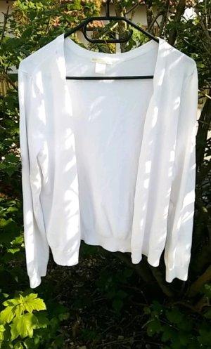 Weiße Strickjacke / Größe M