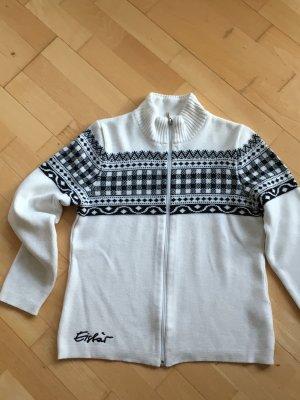 Eisbär Norwegian Cardigan white-black mixture fibre