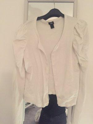 weiße Strickjacke von H&M Größe M