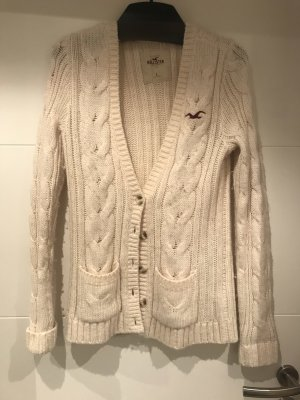 Hollister Knitted Cardigan natural white