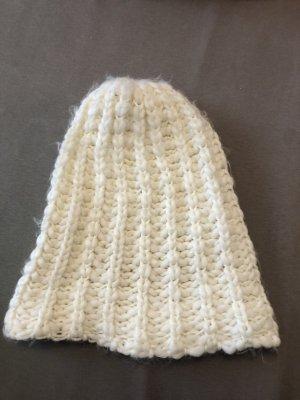 H&M Cappello a maglia bianco