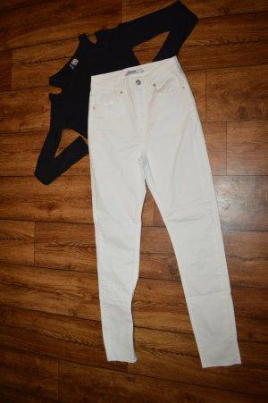 Weisse süße Nakd Jeans Gr. 34 Röhre