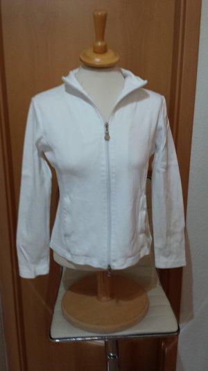 weiße Sweat Jacke von Street One, Gr. 38/M