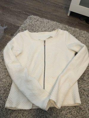 Weiße Sweatshirtjacke