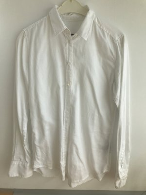 Weiße taillierte Bluse von Marc O'Polo