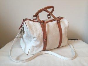 Bowling Bag white-cognac-coloured