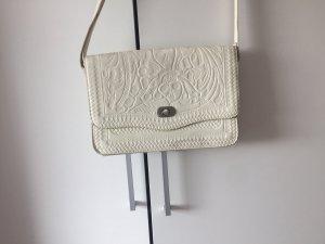 Weiße Tasche mit Blumen Print