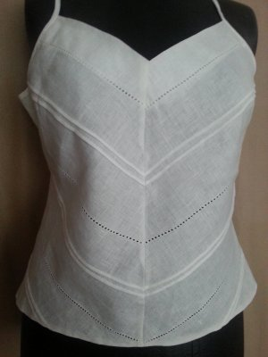 Marks and Spencer Spaghetti Strap Top white linen