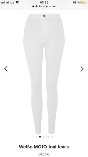 Weiße Topshop Joni Jeans Petite-Größe