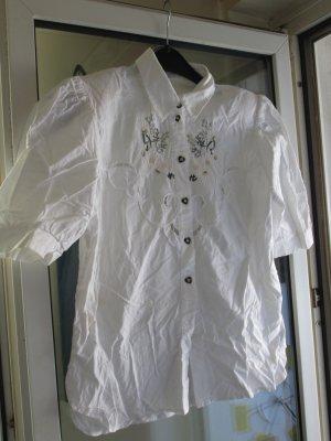 weiße Trachten-Bluse