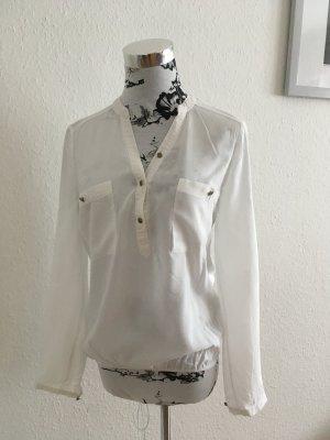 Weiße transparente Bluse