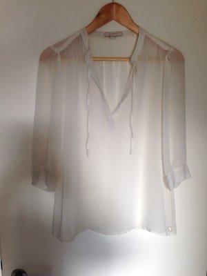 Weiße transparente Bluse Esprit