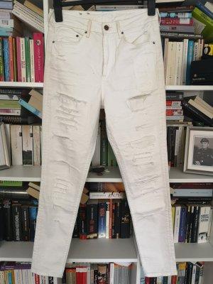 Weiße trashed Jeans von H&M