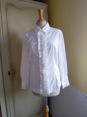 Alba Moda Long Sleeve Blouse white cotton