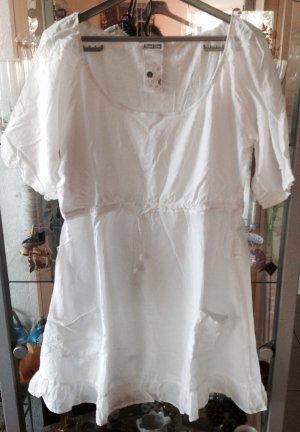 Weisse Tunika Bluse aus Seide