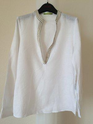 Weiße Tunika mit Perlenverzierung von Bailly & Diehl